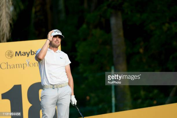 Nacho Elvira of Spain in action on Day Two of the Maybank Championship at Saujana Golf and Country Club on March 22 2019 in Kuala Lumpur Malaysia
