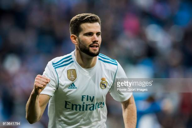 Nacho Fernandez of Real Madrid celebrates during the La Liga 201718 match between Real Madrid and RC Deportivo La Coruna at Santiago Bernabeu Stadium...