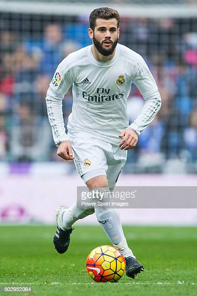 Nacho Fernandez of Real Madrid CF in action during the Real Madrid CF vs Real Sociedad as part of the Liga BBVA 20152016 at Estadio Santiago Bernabeu...