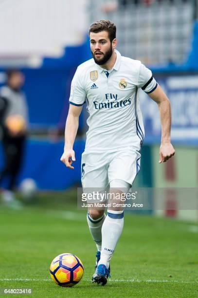 Nacho Fernandez of Real Madrid controls the ball during the La Liga match between SD Eibar and Real Madrid at Ipurua Municipal Stadium on March 4...