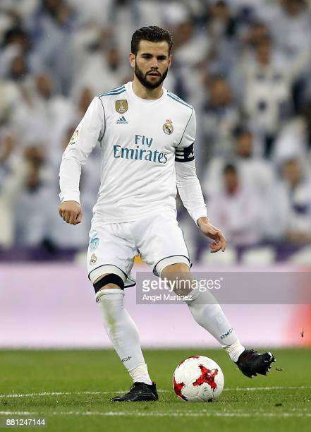 Nacho Fernandez of Real Madrid in action during the Copa del Rey round of 32 second leg match between Real Madrid CF and Fuenlabrada at Estadio...