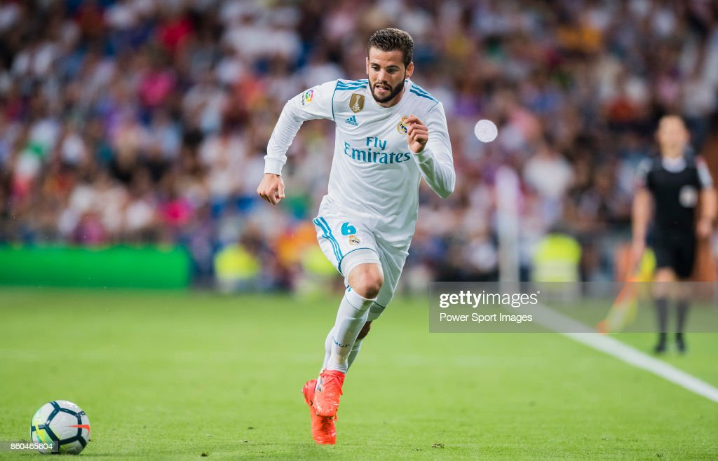 Nacho Fernandez of Real Madrid in action during the La Liga 2017-18 match between Real Madrid and RCD Espanyol at Estadio Santiago Bernabeu on 01 October 2017 in Madrid, Spain.