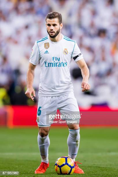 Nacho Fernandez of Real Madrid in action during the La Liga 201718 match between Real Madrid and UD Las Palmas at Estadio Santiago Bernabeu on...