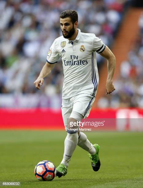 Nacho Fernandez of Real Madrid in action during the La Liga match between Real Madrid and Sevilla FC at Estadio Santiago Bernabeu on May 14 2017 in...