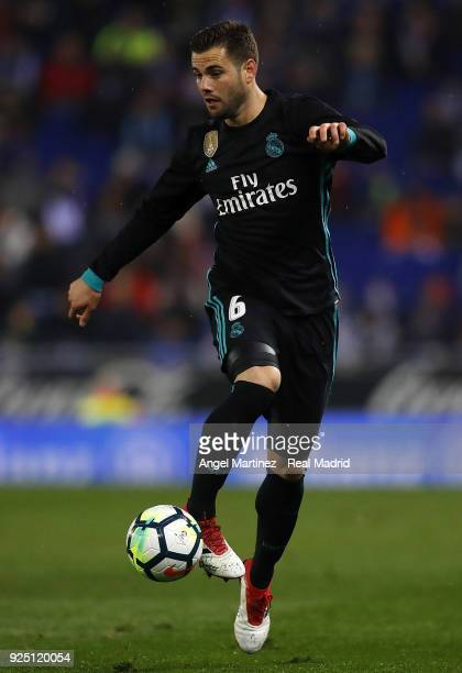 Nacho Fernandez of Real Madrid in action during the La Liga match between Espanyol and Real Madrid at RCDE Stadium on February 27 2018 in Barcelona...