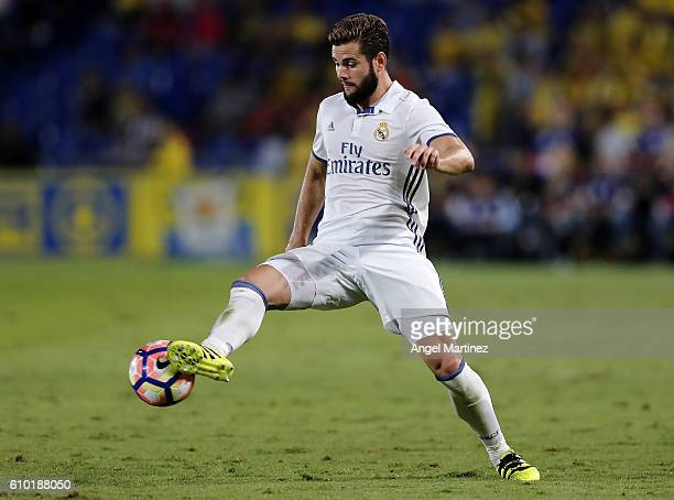 Nacho Fernandez of Real Madrid in action during the La Liga match between UD Las Palmas and Real Madrid CF at Estadio de Gran Canaria on September 24...