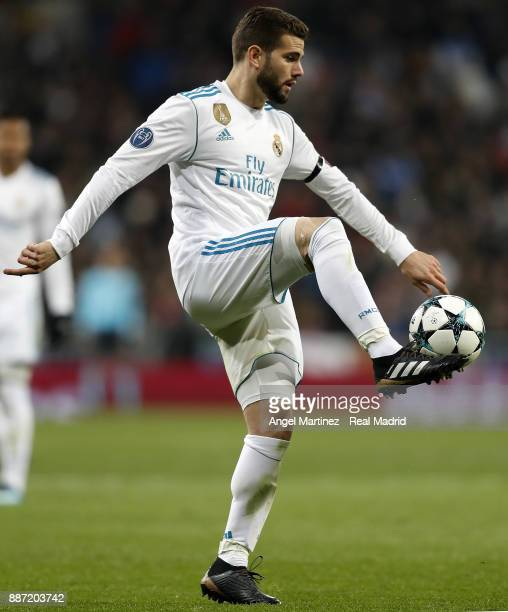 Nacho Fernandez of Real Madrid in action during the UEFA Champions League group H match between Real Madrid CF and Borussia Dortmund at Estadio...