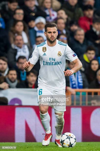 Nacho Fernandez of Real Madrid in action during the UEFA Champions League 201718 Round of 16 match between Real Madrid vs Paris Saint Germain at...