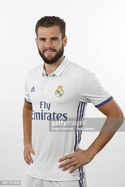 Nacho Fernandez of Real Madrid poses during a portrait session at Valdebebas training ground on August 18 2016 in Madrid Spain