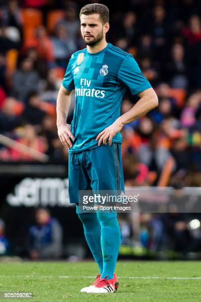 Nacho Fernandez of Real Madrid reacts during the La Liga 201718 match between Valencia CF and Real Madrid at Estadio de Mestalla on 27 January 2018...