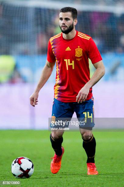 Nacho Fernandez of Spain controls the ball during the international friendly match between Spain and Costa Rica at La Rosaleda Stadium on November 11...