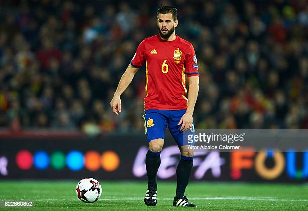 Nacho Fernandez of Spain in action during the FIFA 2018 World Cup Qualifier between Spain and FYR Macedonia at on November 12 2016 in Granada
