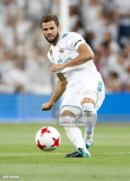 Nacho Fernendez of Real Madrid in actions during the match Trofeo Santiago Bernabeu between Real Madrid CF and Fiorentina at Santiago Bernabeu...