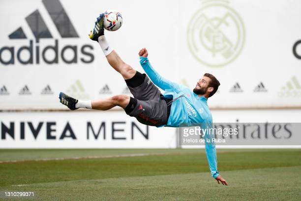 Nacho Fernández of Real Madrid CF during a training session at Valdebebas training ground on April 01, 2021 in Madrid, Spain.