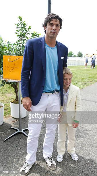 Nacho Figueras and Artemio Figueras and attend 9th Annual Veuve Clicquot Polo Classic at Liberty State Park on June 4 2016 in Jersey City New Jersey