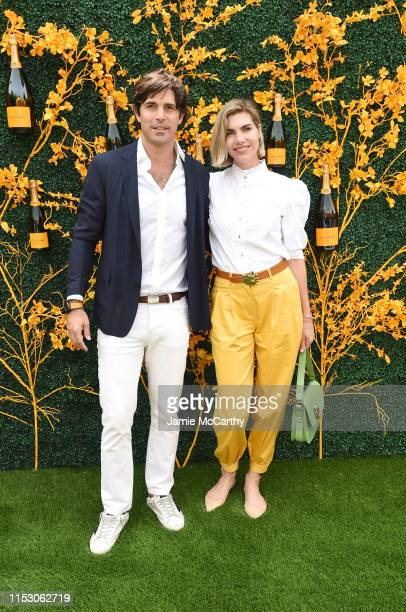 Nacho Figueras and Delfina Blaquier attend the 12th Annual Veuve Clicquot Polo Classic at Liberty State Park on June 01 2019 in Jersey City New Jersey