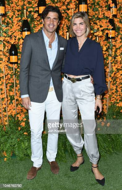 Nacho Figueras and Delfina Blaquier attend the 9th Annual Veuve Clicquot Polo Classic Los Angeles at Will Rogers State Historic Park on October 6...
