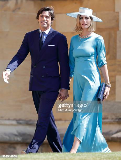 Nacho Figueras and Delfina Blaquier attend the wedding of Prince Harry to Ms Meghan Markle at St George's Chapel Windsor Castle on May 19 2018 in...