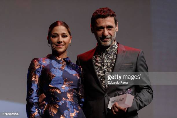 Nacho Fresneda and Mariam Hernandez attend Men's Health 2017 Awards gala at Goya theater on November 20 2017 in Madrid Spain