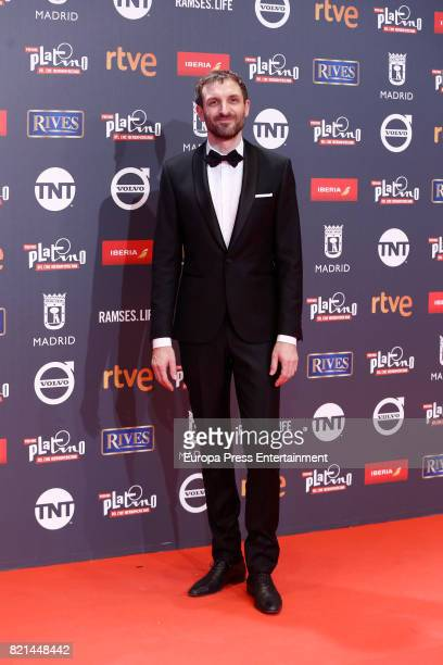 Nacho Fresneda attends Platino Awards 2017 at La Caja Magica on July 22 2017 in Madrid Spain