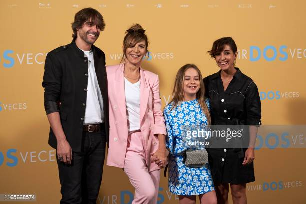 Nacho Lopez Maria Ripoll Mafalda Carbonell and Inma Cuesta attends the 'Vivir dos veces' Photocall at Urso Hotel in Madrid Spain on Sep 2 2019