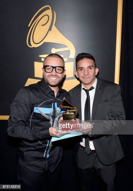 Nacho Miguelito Mendoza attends the Premiere Ceremony during the 18th Annual Latin Grammy Awards at the Mandalay Bay Convention Center on November 16...
