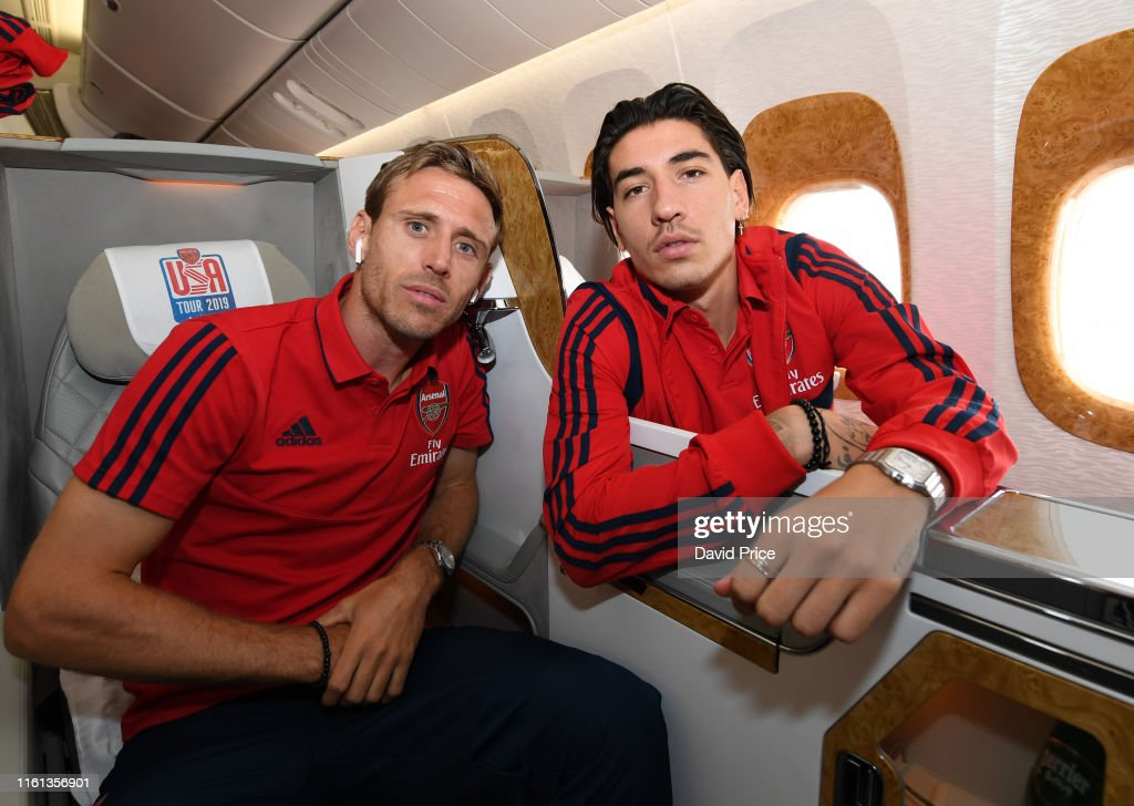 Arsenal Players Depart for Their Pre-Season Tour of the United States : ニュース写真