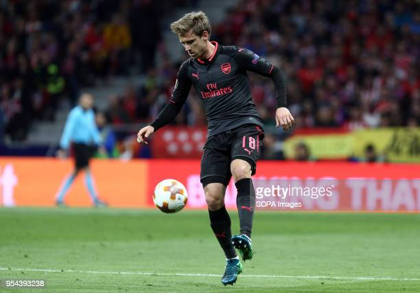 METROPOLITANO MADRID SPAIN Nacho Monreal during the UEFA Europa League Semi Final Second Leg match between Atletico de Madrid and Arsenal FC at the...