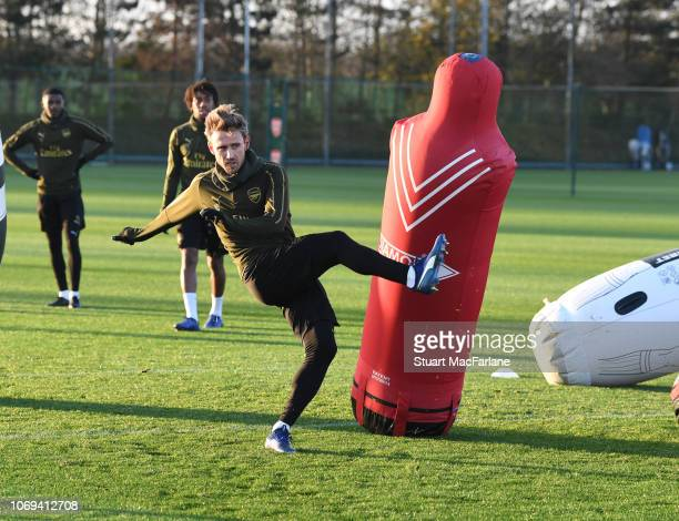 Nacho Monreal of Arsenal during a training session at London Colney on December 7 2018 in St Albans England