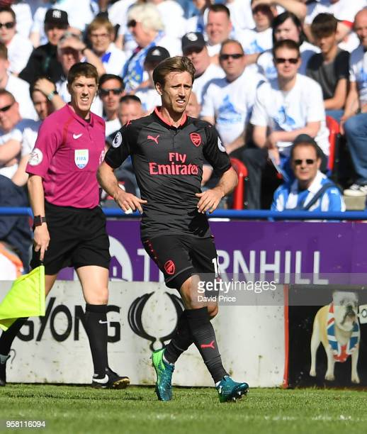 Nacho Monreal of Arsenal during the Premier League match between Huddersfield Town and Arsenal at John Smith's Stadium on May 13 2018 in Huddersfield...