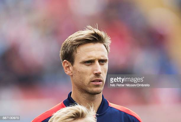 Nacho Monreal of Arsenal during the PreSeason Friendly between Arsenal and Manchester City at Ullevi on August 7 2016 in Gothenburg Sweden