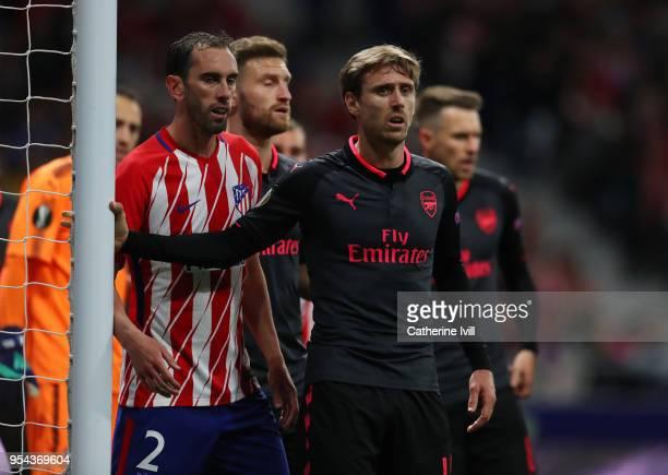 Nacho Monreal of Arsenal during the UEFA Europa League Semi Final second leg match between Atletico Madrid and Arsenal FC at Estadio Wanda...