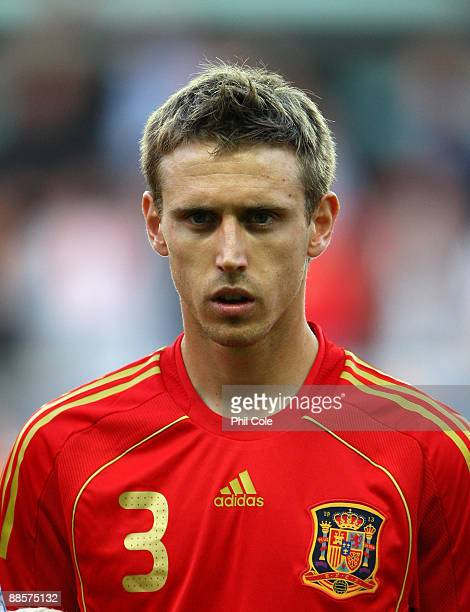 Nacho Monreal of Spain during the UEFA U21 European Championships match between England and Spain at the Gamia Ullevi on June 18 2009 in Gothenburg...