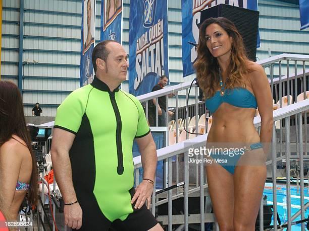 Nacho Montes and Veronica Hidalgo are seen during TV Progranme on February 27 2013 in Las Palmas de Gran Canaria Spain