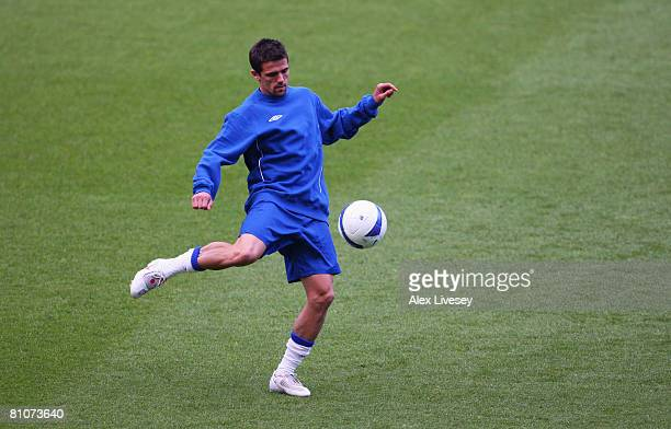 Nacho Novo of Glasgow Rangers in action during the Glasgow Rangers training session ahead of the UEFA Cup Final at the City of Manchester Stadium on...