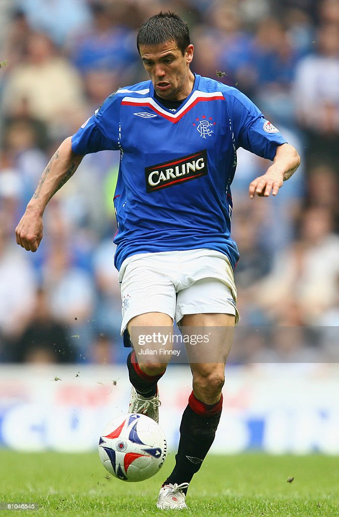 Nacho Novo of Rangers in action during The Clydesdale Bank Scottish Premier League match between Rangers and Dundee United at Ibrox Stadium on May 10, 2008 in Glasgow, Scotland.