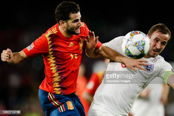 Nacho of Spain Harry Kane of England during the UEFA Nations league match between Spain v England at the Estadio Benito Villamarin on October 15 2018...