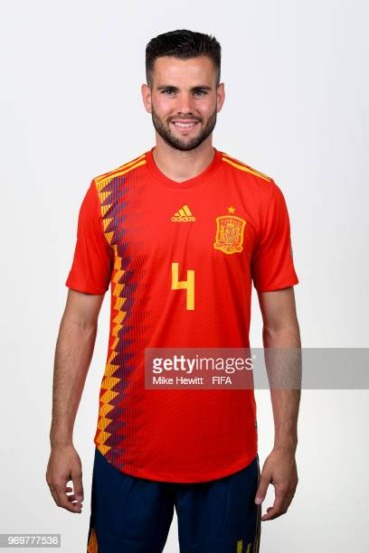 Nacho of Spain poses for a portrait during the official FIFA World Cup 2018 portrait session at FC Krasnodar Academy on June 8 2018 in Krasnodar...