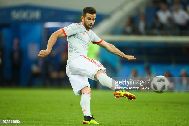 Nacho of Spain scores a goal to make it 23 during the 2018 FIFA World Cup Russia group B match between Portugal and Spain at Fisht Stadium on June 15...