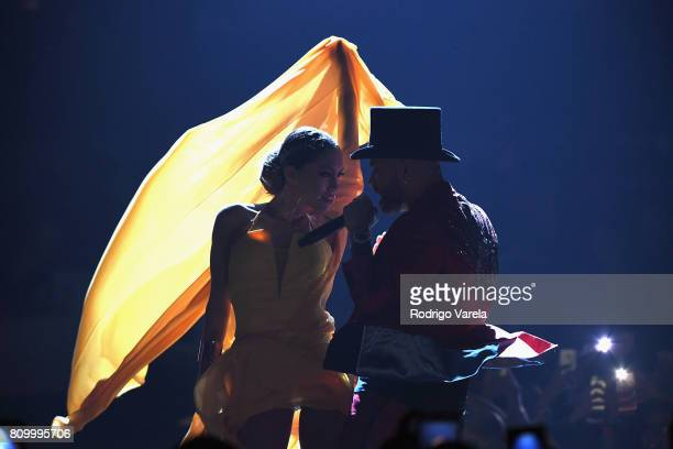 Nacho performs on stage during Univision's Premios Juventud 2017 Celebrates The Hottest Musical Artists And Young Latinos ChangeMakers at Watsco...