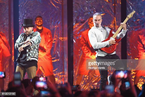 Nacho performs on stage during Univision's 'Premios Juventud' 2017 Celebrates The Hottest Musical Artists And Young Latinos ChangeMakers at Watsco...