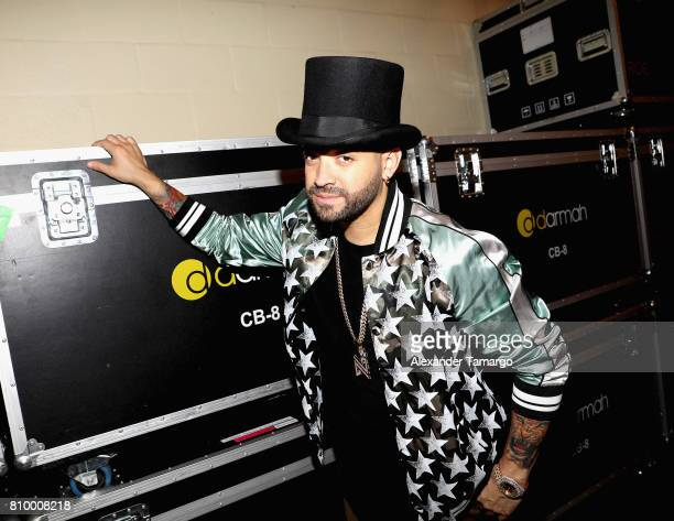 Nacho poses backstage during Univision's 'Premios Juventud' 2017 Celebrates The Hottest Musical Artists And Young Latinos ChangeMakers at Watsco...