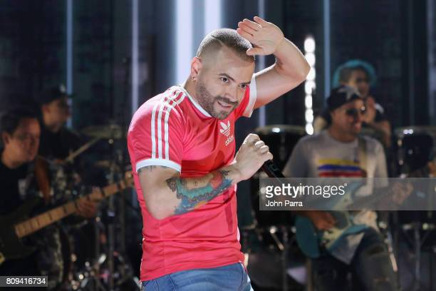 Nacho rehearses on stage as Univision's 'Premios Juventud' 2017 celebrates the hottest musical artists and young Latinos changemakers at Watsco...