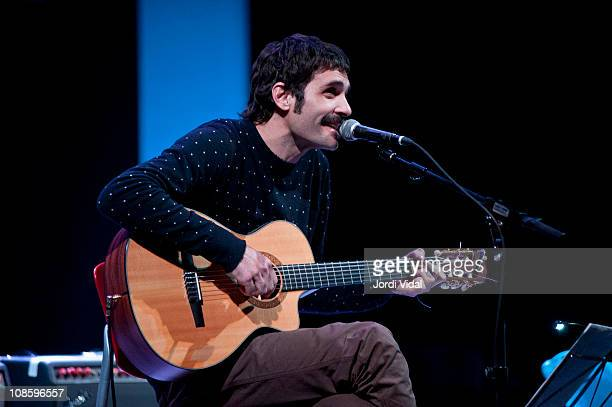 Nacho Umbert performs at Teatro Principal during the third day of the Tanned Tin Festival on January 29 2011 in Castellon de la Plana Spain