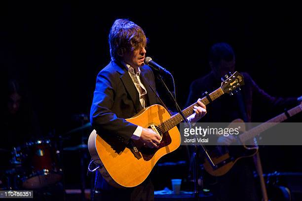 Nacho Vegas performs on stage at L'Auditori on March 19 2011 in Barcelona Spain