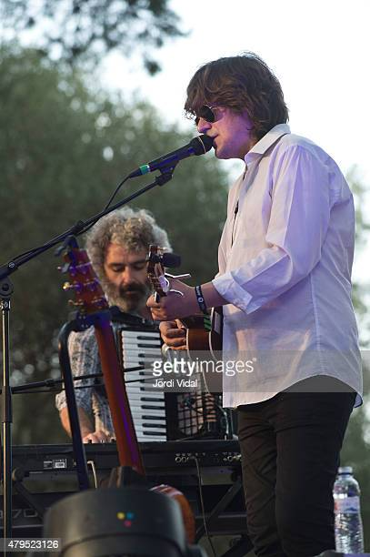 Nacho Vegas performs on stage during the third day of Vida Festival at Masia D'en Cabanyes on July 5 2015 in Vilanova i la Geltru Spain