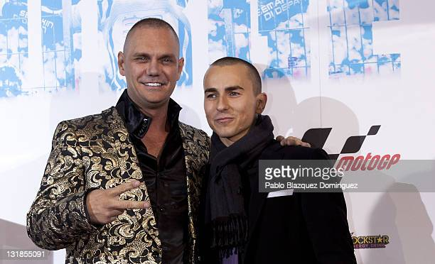 Nacho Vidal and Jorge Lorenzo attend 'Jorge' premiere at Capitol Cinema on December 16 2010 in Madrid Spain