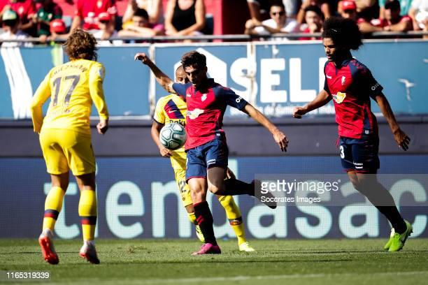 Nacho Vidal of CA Osasuna during the La Liga Santander match between Osasuna v FC Barcelona at the Estadio El Sadar on August 31 2019 in Pamplona...