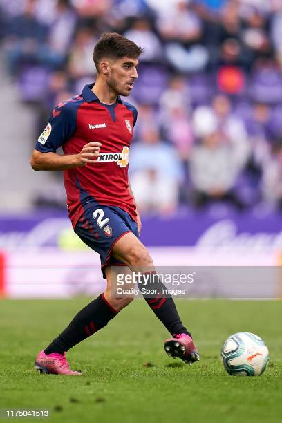 Nacho Vidal of CA Osasuna in action during the Liga match between Real Valladolid CF and CA Osasuna at Jose Zorrilla on September 15 2019 in...