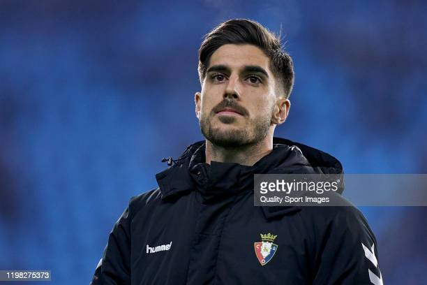 Nacho Vidal of CA Osasuna looks on prior to the Liga match between RC Celta de Vigo and CA Osasuna at AbancaBalaídos on January 05 2020 in Vigo Spain